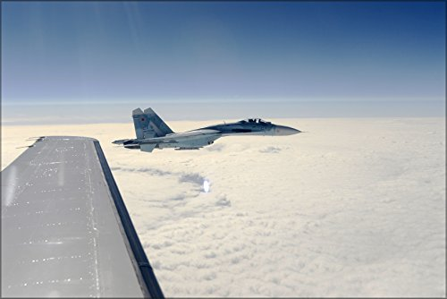 Su 27 Russian Air (24x36 Poster . Russian Air Force Su-27 Sukhois Aircraft)