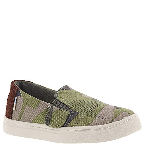 TOMS Luca Shoe Burnt Olive Camo Canvas Size 9 M US - Canvas Footwear Olive