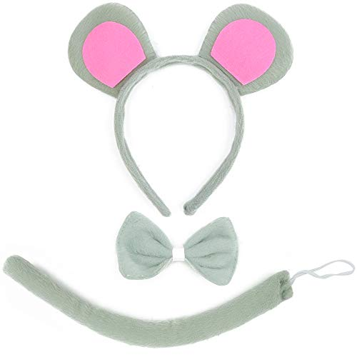 Skeleteen Mouse Costume Accessory Set - Grey
