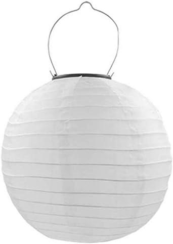 Prosperveil - Farolillos solares LED para exteriores, impermeables, para jardín, patio, camino, valla, decoración del hogar, fiesta, Blanco, 8 pulgadas: Amazon.es: Iluminación