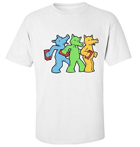 Quasimoto colorful weed art rap hip hop t-shirt herren baumwoll weiss