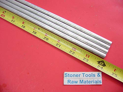 4 Pieces 5/16'' Aluminum 6061 Round Rod 24'' Long Solid T6511 .312'' Bar