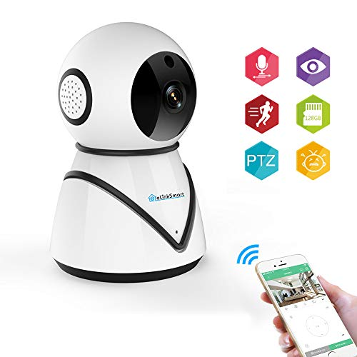 eLinkSmart 720P WiFi Camera Wireless IP Camera for Home Security, Baby Monitor with Calling, Motion and Crying Detection [New 2019]