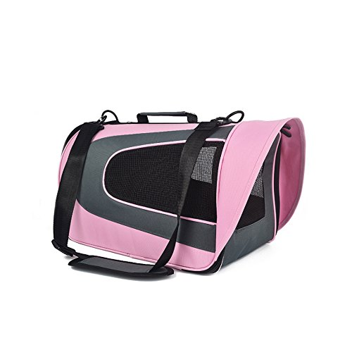 S-Lifeeling Colorful Cat Dog Carrier ,Soft Sided Dog Crate , Dog Kennel Travel Portable Bag Home for Dogs,Suitable for Small - Lodge Services Customer Travel