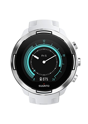 Suunto 9 GPS Sports Watch with Long Battery Life, Barometer and Wrist-Based Heart Rate (White)
