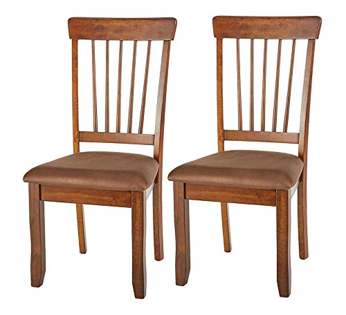 - Wood & Style Furniture Berringer Dining Side Chair - Spindle Back - Set of 2 - Hickory Stain Finish Home Office Commerial Heavy Duty Strong Décor