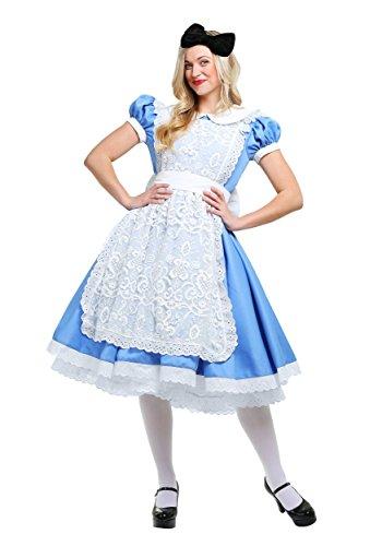 Women's Alice Costume Elite Alice in Wonderland Adult Costume Large Blue -