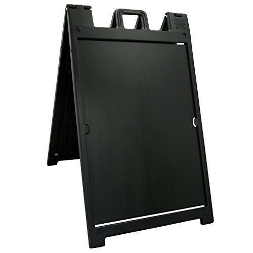 The ''Signicade Deluxe'' Portable Sign Stand, Color=Black by Plasticade