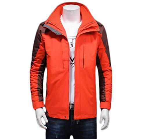 Vestito E Impermeabile Giacca Caldo Pfsyr Da m A In Alpinismo All'aperto Addensare Autunno 4xl Sci Orange Tenere Pezzi Due Grandi Dimensioni Tuta Uomo Inverno Di 56xUq0xf