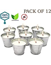Howemon Citronella Scented Candles,Soy Wax Bucket Candle Seaside Escape, Indoor and Outdoor 12-Pack