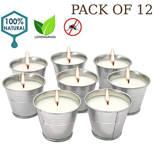 Citronella Bucket - Howemon Citronella Scented Candles,Soy Wax Bucket Candle Seaside Escape, Indoor and Outdoor 12-Pack