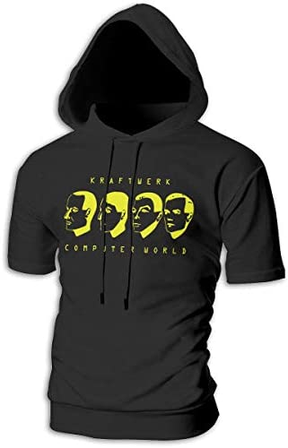 Tシャツ シャツ ティーシャツ スウェットシャツ パーカー ストレッチ メンズ 半袖 フード付き クラフトワーク スポーツtシャツ 吸汗速乾 トレーニング ジムtシャツ 通気性 黒