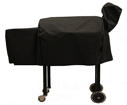 """Cowley Canyon Brand Black Cover for Pellet Grills with grilling area 22""""x19""""."""
