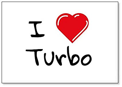 I Love Turbo, fridge magnet (design 1)