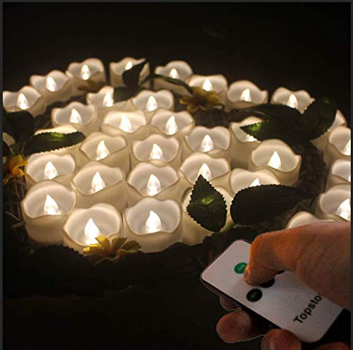 Mini candles with remote