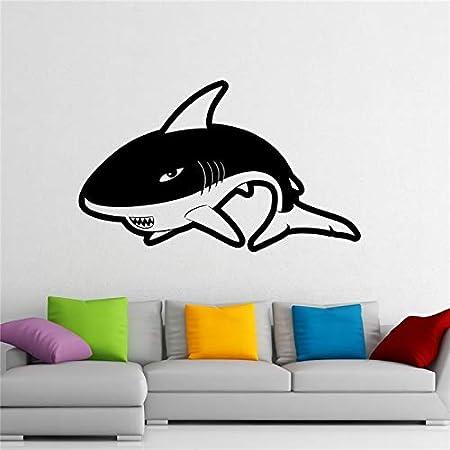 Crjzty Venta Etiqueta de la Pared tiburón Tatuajes de Pared Preda ...