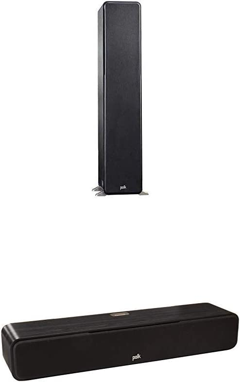 Polk Audio Signature Series 3 Channel Home Theater System | Two (2) S50 Tower Speakers, One (1) S35 Center Channel | PowerPort Technology