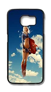 Samsung Galaxy S6 Edge Customized Unique Hard Black Case Superwoman Case S6 Edge Cover PC Case