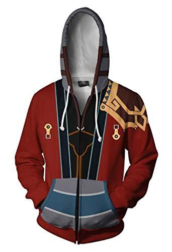 (Cosplaybala Unisex Adults Final Fantasy Cosplay Costume Hoodie 3D Printed Sweatshirt (XXL,)