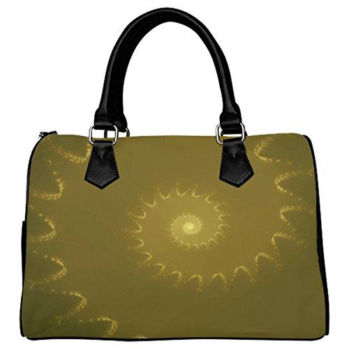 Jasonea Women Boston Handbag Top Handle Handbag Satchel Amazing Fractal Basad193454