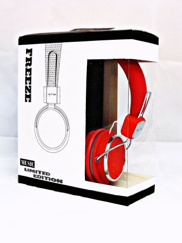 Freeze Limited Edition I-kool Freeze Series Foldable Headphone with Swivel Function (RED)