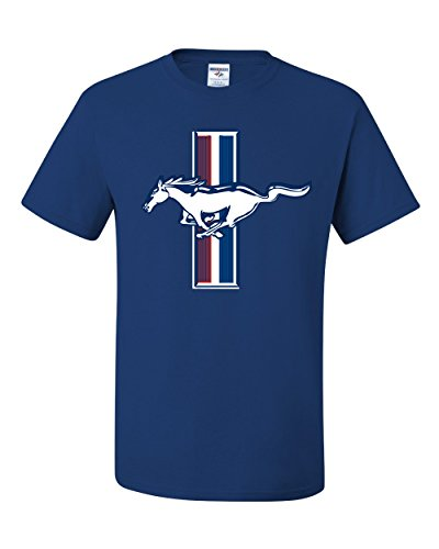 - Wild Bobby Ford Mustang Logo Emblem Officially Licensed Tee Graphic T-Shirt - (Small, Royal Blue)