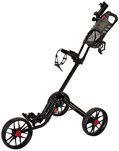 Golf Push Pull Carts - CaddyLite 15.3 Quad-Fold Golf Push Cart Black