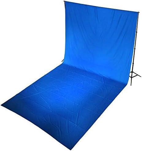 خلفية ستوديو شروماكي للتصوير، 100% من القطن والموسلين بقياس 10×20 قدم، 3×6 متر بلون ازرق