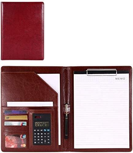 Schreibmappen Bewerbungsmappe Interview Legal Document Organizer und Visitenkartenhalter Zwischenablage Halter Briefpapier Größe A4 Hinweis A4 Konferenzmappe (Color : Wine red, Size : 325x250mm)