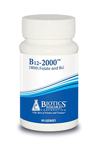 Biotics Research B12 Lozenges- Vitamin B6 & B12 2000 Lozenges with Folate - 60 Lozenges