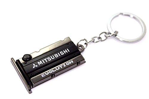 Mitsubishi evolution Engine Valve Cover Keychain CAR Keyring JDM ()