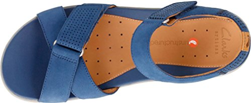 CLARKS Womens Un Saffron Walking Sandal Dark Blue Nubuck cheap sale store mrocl30jup