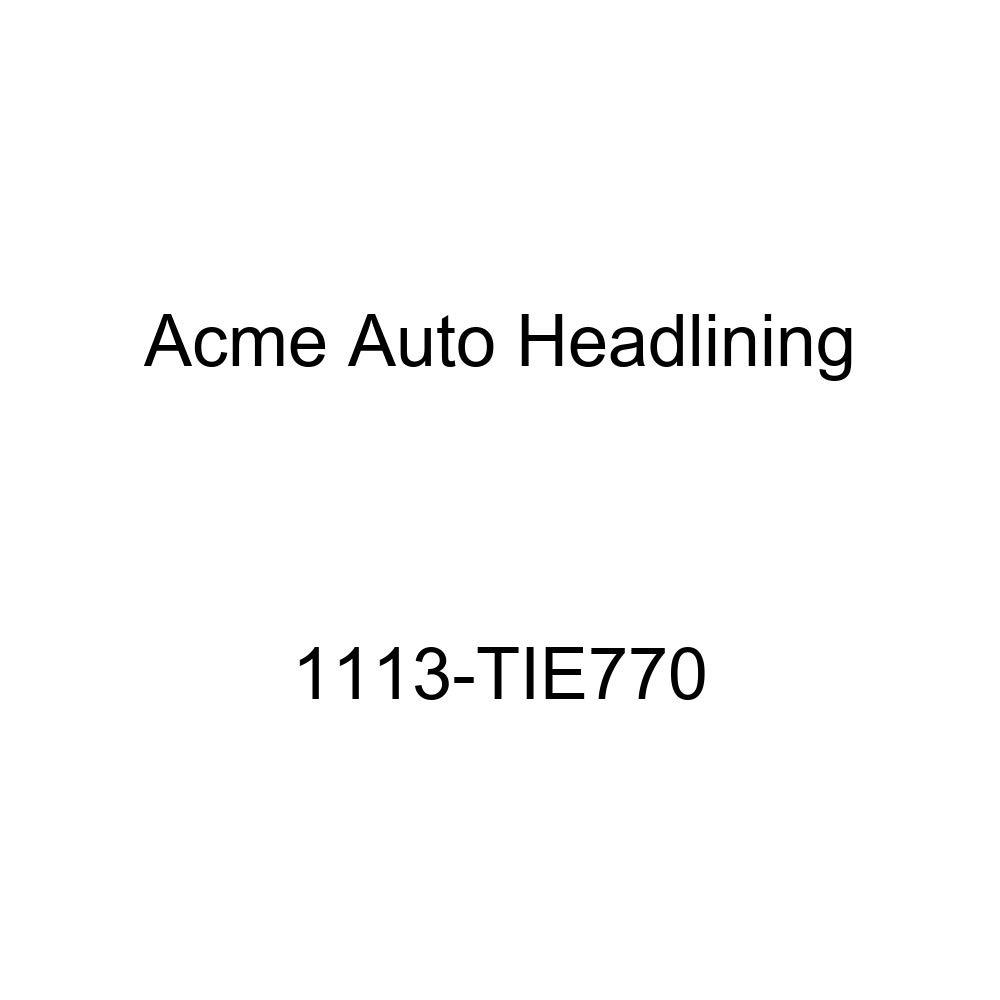 Acme Auto Headlining 1113-TIE770 Black Replacement Headliner 1940 Buick, Cadillac, Oldsmobile, Pontiac 4 Dr Sport Sedan - 7 Bows