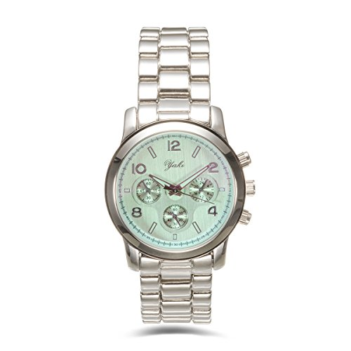 Yaki Neu Klassische Armbanduhren Damen Fashion Analog Quarz Uhren Metallarmband Rund