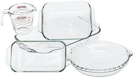 Amazon Com Pyrex Bakeware 5 Piece Baking Dish Set Clear Bake And Serve Sets Kitchen Dining
