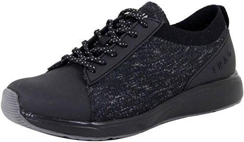 TraQ by Alegria Womens Qest Walking Shoe, Black, Size 38 EU (8-8.5 M US Women)