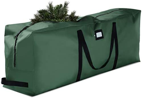 Premium Large Christmas Tree Storage Bag - Fits Up to 9 feet. Tall Artificial Disassembled Trees, Durable Handles & Sleek Dual Zipper - Holiday Xmas Bag Made of Tear Proof 600D Oxford - 5 Year Warranty