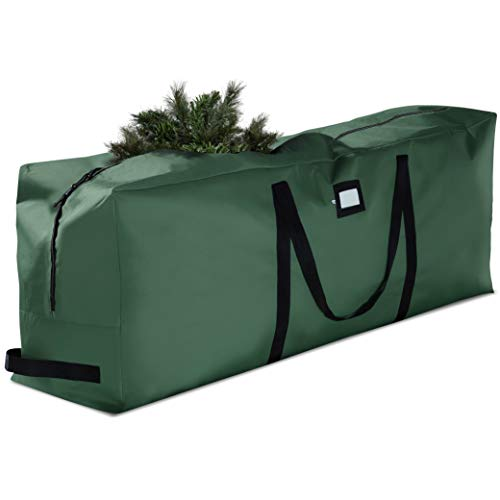 Premium Christmas Tree Storage Bag - Fits Up to 7.5 ft Tall Artificial Disassembled Trees, Durable Handles & Sleek Dual Zipper - Holiday Xmas Bag Made of Tear Proof 600D Oxford - 5 Year Warranty, (Christmas Bags Storage For Tree Artificial)