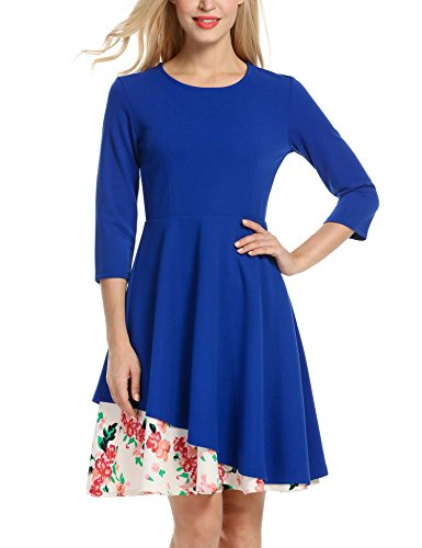 ANGVNS Womens Sleeve Floral Cocktail