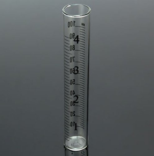 4 inch Capacity Glass Rain Gauge Replacement Tube Outdoor Home by ShopIdea