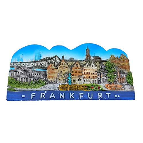 Rathaus Seckbach Frankfurt Black forest Germany Resin 3D Refrigerator Fridge Magnet Travel City Souvenir Collection Handmade Craft White Board Refrigerator Sticker ()