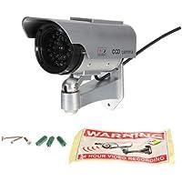 Solar Power Dummy Fake CCTV Security Surveillance Outdoor Flash LED CCD Camera