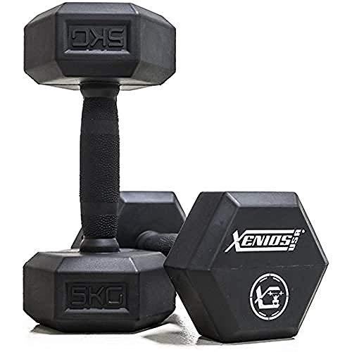 Xenios USA Hexagon rubberhalters 5 kg zwart, XSORBDB5