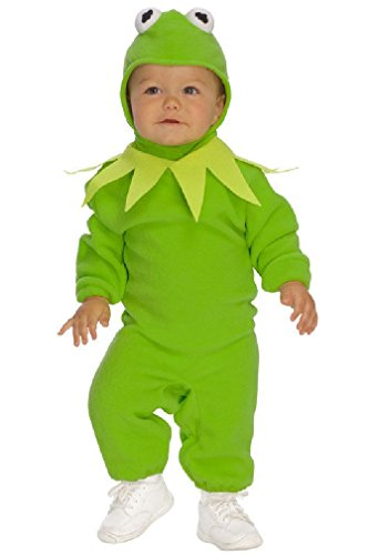[8eighteen The Muppets Kermit the Frog Romper Infant/Toddler Halloween Costume] (Toddler Frog Prince Halloween Costume)