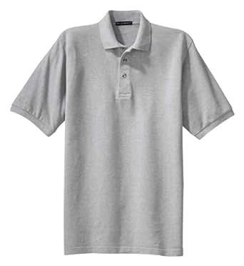Port Authority Men's Big Shrink Resistant Pique Polo Shirt, Oxford, Large