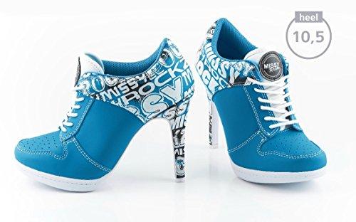 Bleu Femme Électrique ROCKZ pour Bottes MISSY BHqfIpW