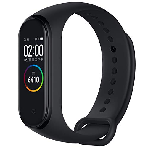 Price comparison product image AHAYAKU Xiaomi Mi Band 4 AMOLED Color Screen Wristband BT5.0 Fitness Tracker Smart Watch Black