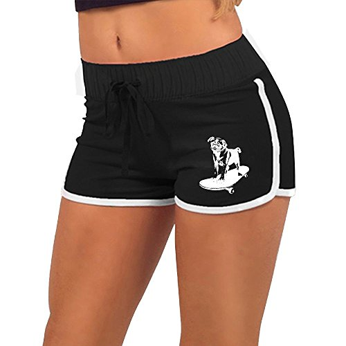 Skateboard Pug Puppy Dog Women's Low-Waist Sexy Seamless Tight Pants | Hot Pants
