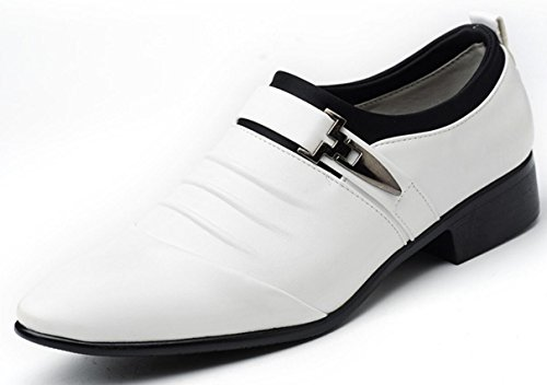 dimensioni Lace casual Shoes di da Oxford grandi sposa white Scarpe Up uomo XWZG Scarpe punta Business a da axwaqSC0