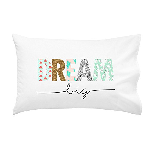Oh, Susannah Dream Big Kids Pillowcase - Fun Pillow Case (1 20x30 Inch Standard Size Pillowcase) Cute Kids Pillowcase